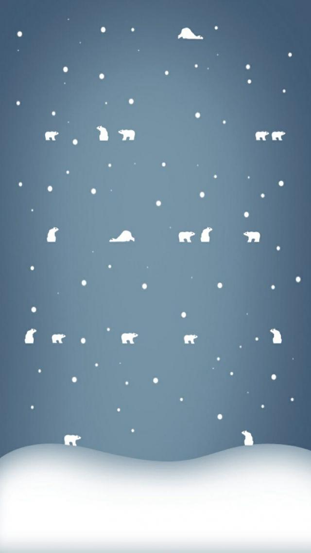 download Cute Polar Bear Winter iPhone Wallpaper iPhone 640x1136