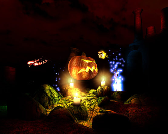 Free Halloween 3D Desktop Wallpaper