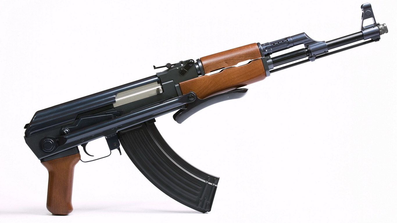 Wallpaper Kalashnikov gun ak 47 weapons large on the desktop 1366x768