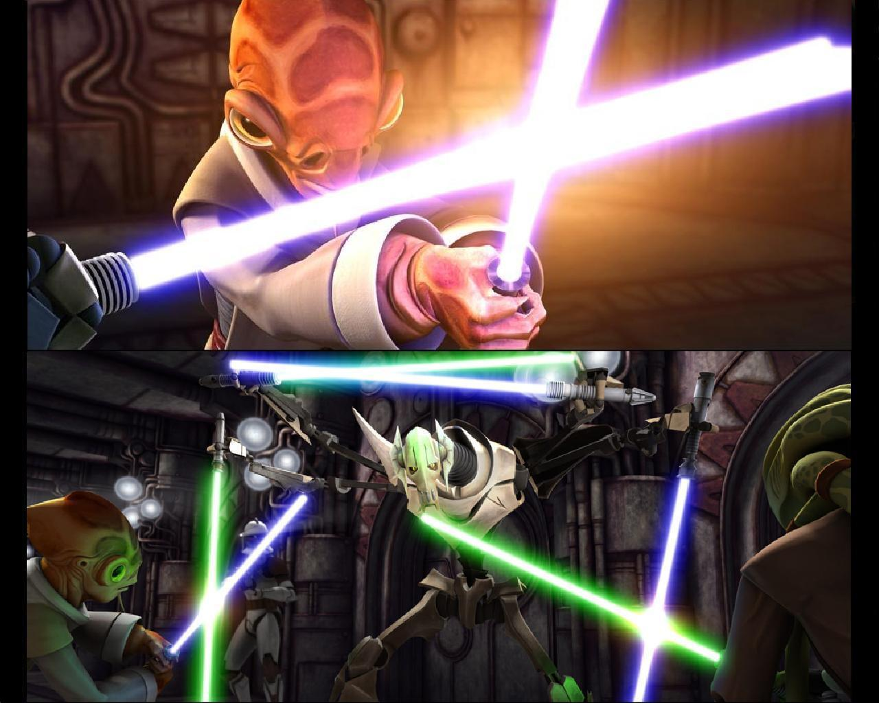 toile toile star Wars images Clone Wars Ep 10 Lair of 1280x1024