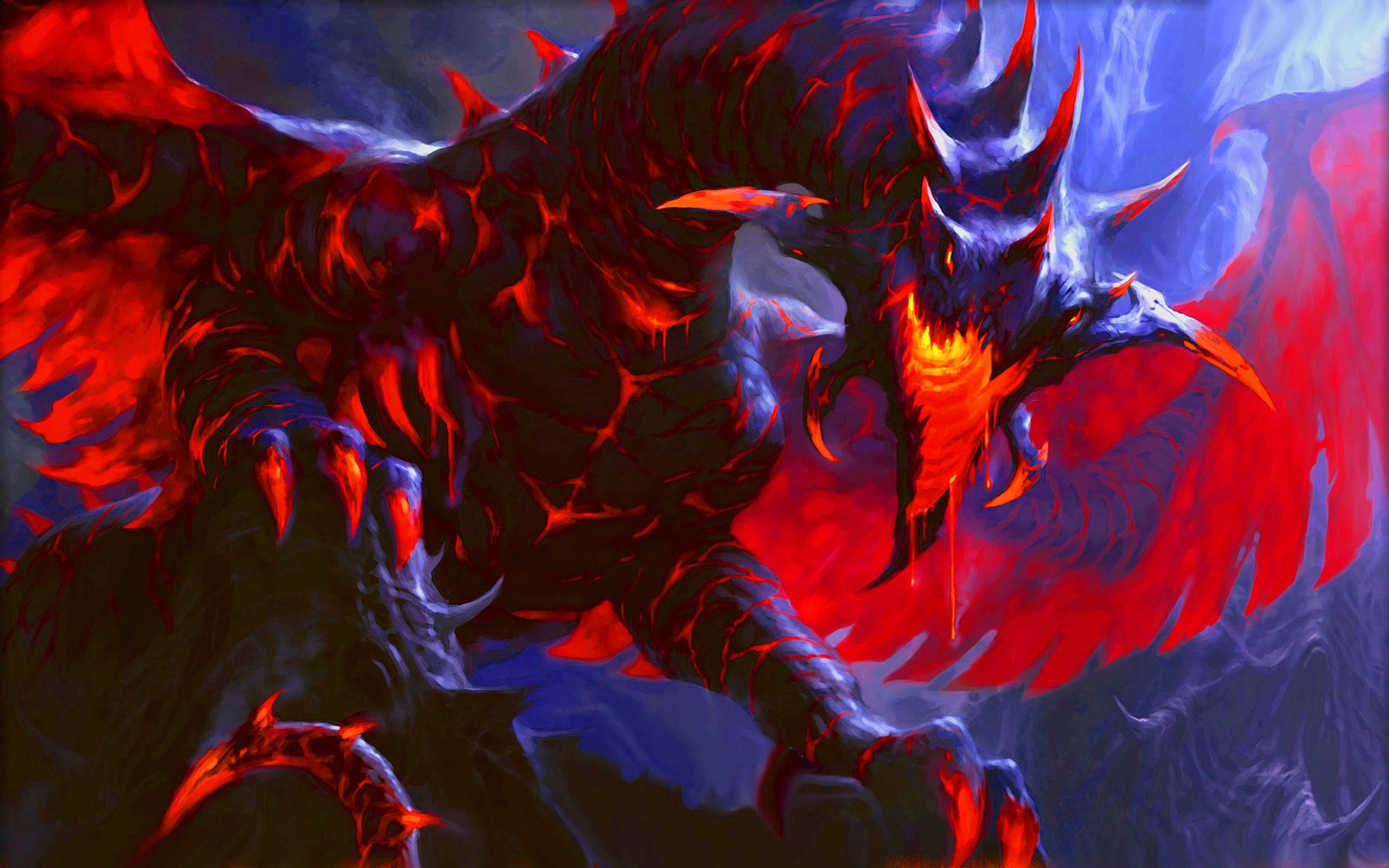 Red Fire Dragon Wallpaper 2560x1600
