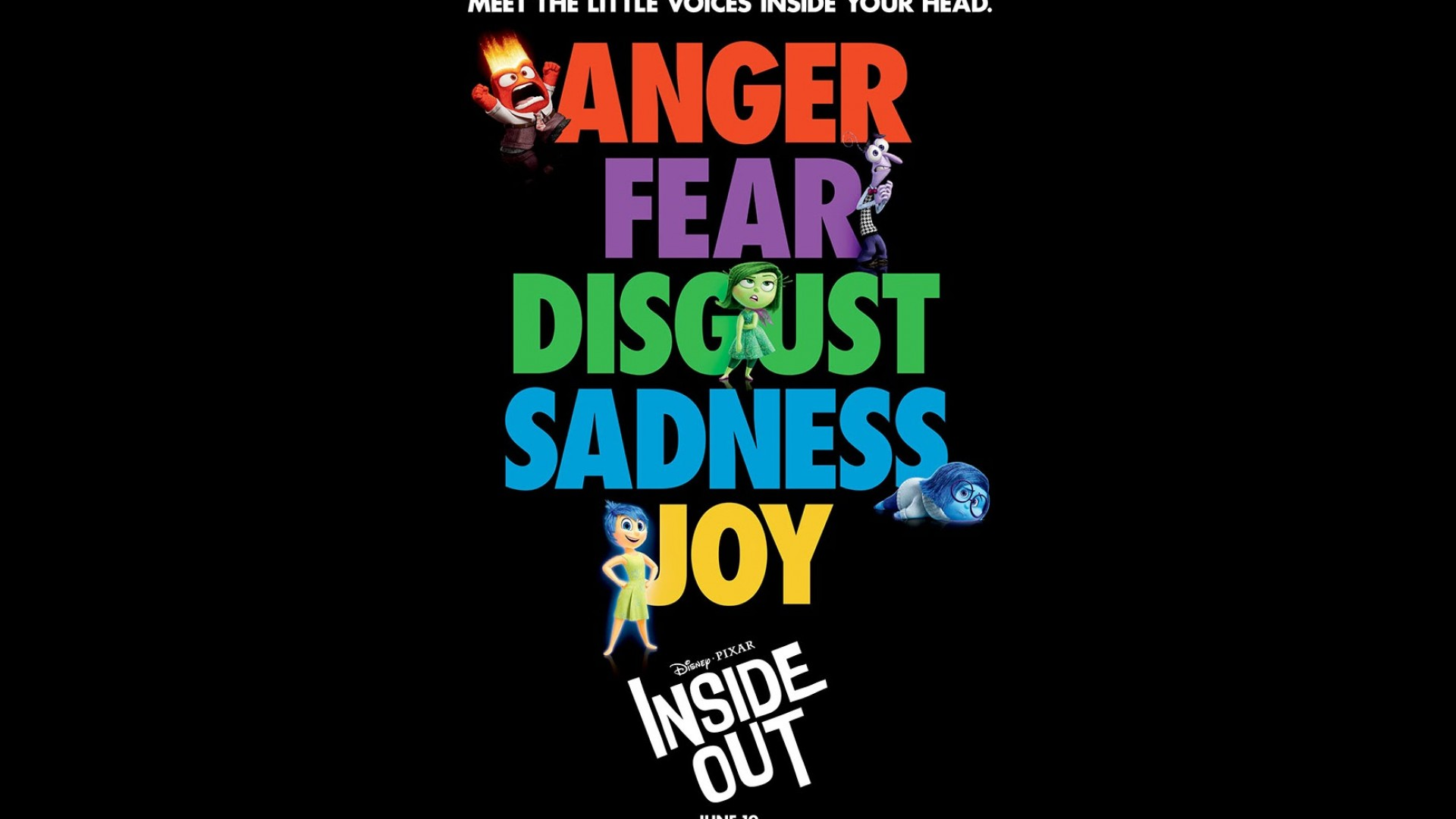 Inside Out 2015 Movie Poster HD Wallpaper   Stylish HD Wallpapers 1920x1080