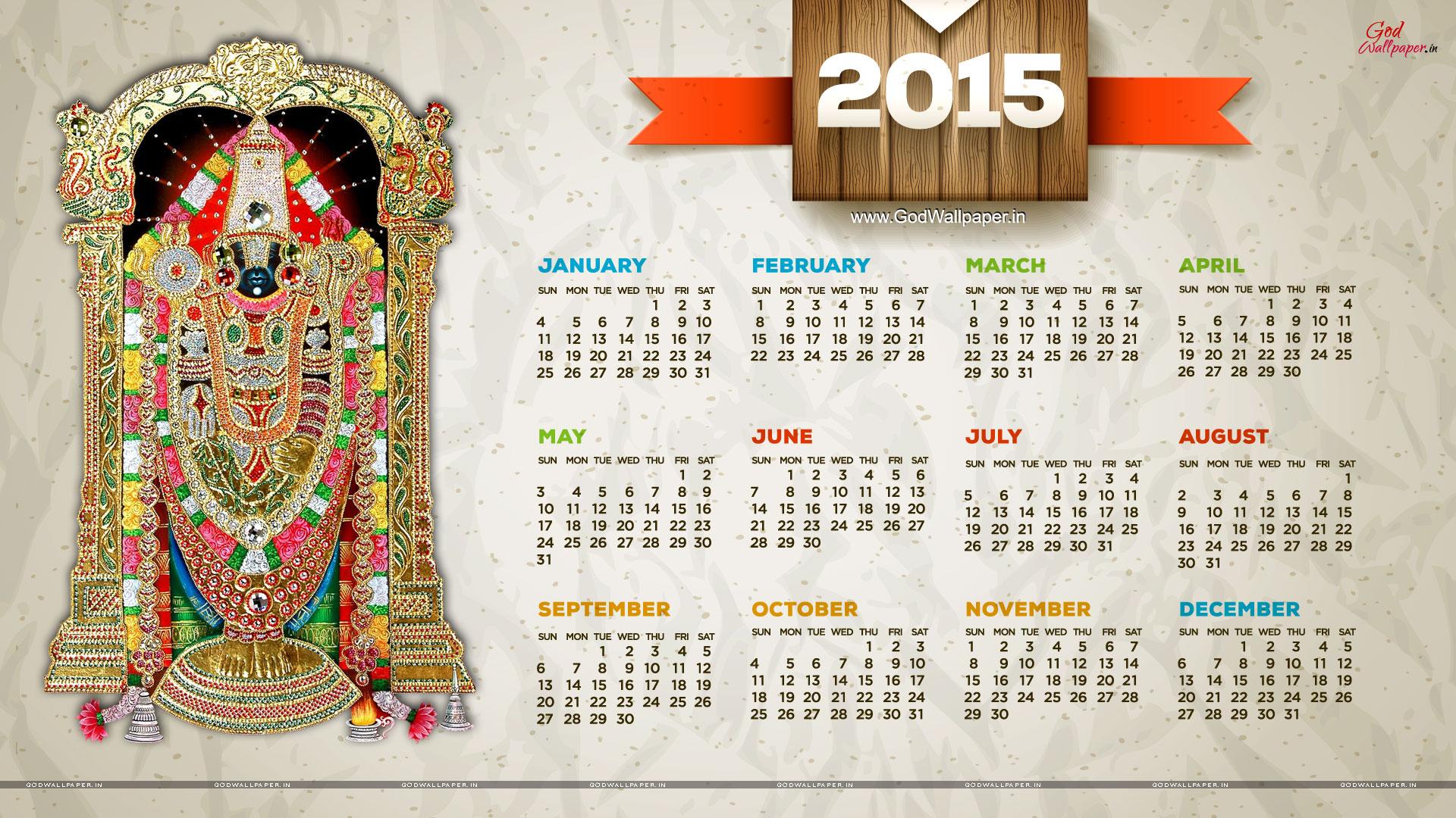 Hindu God Wallpapers Desktop Wallpaper Calendar 2015 Download 1920x1080