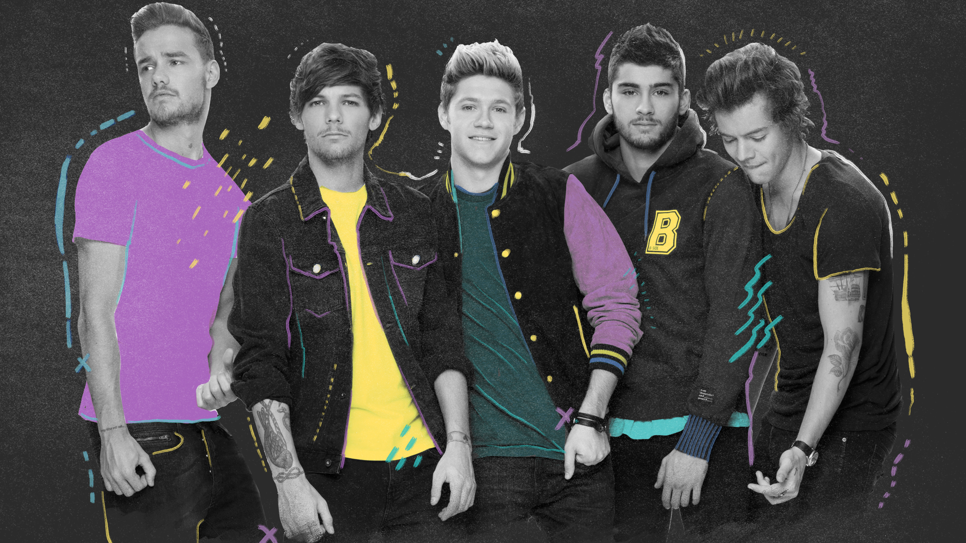 One Direction 2015 Wallpaper One direction on the road 1920x1080