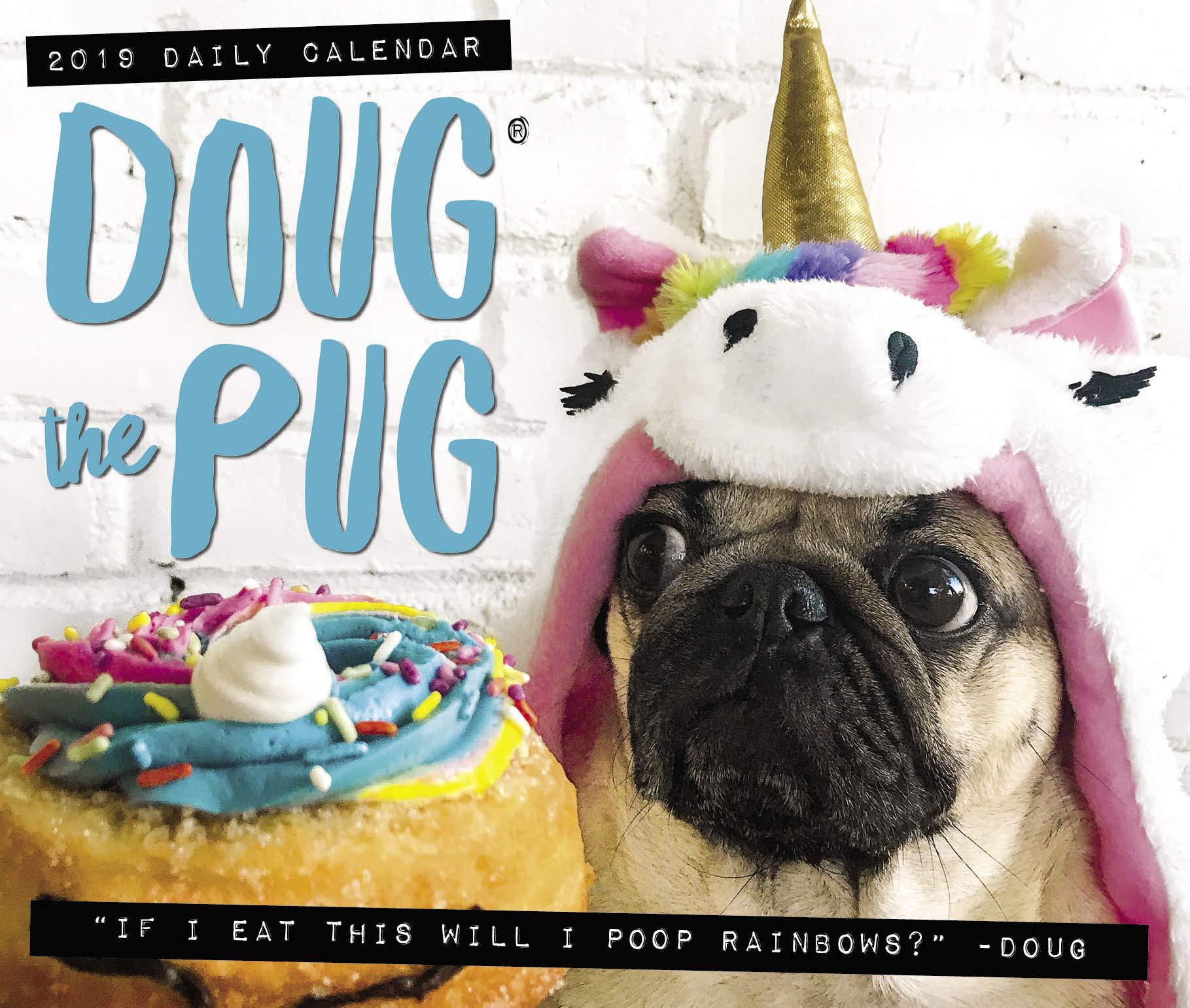 Doug the Pug 2019 Box Calendar Dog Breed Calendar Leslie Mosier 1819x1541