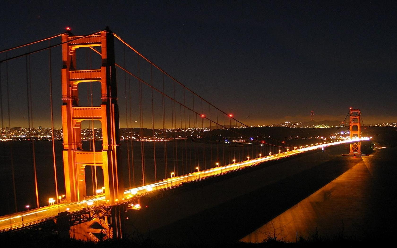 Wallpaper golden gate bridge wallpapersafari for Golden night
