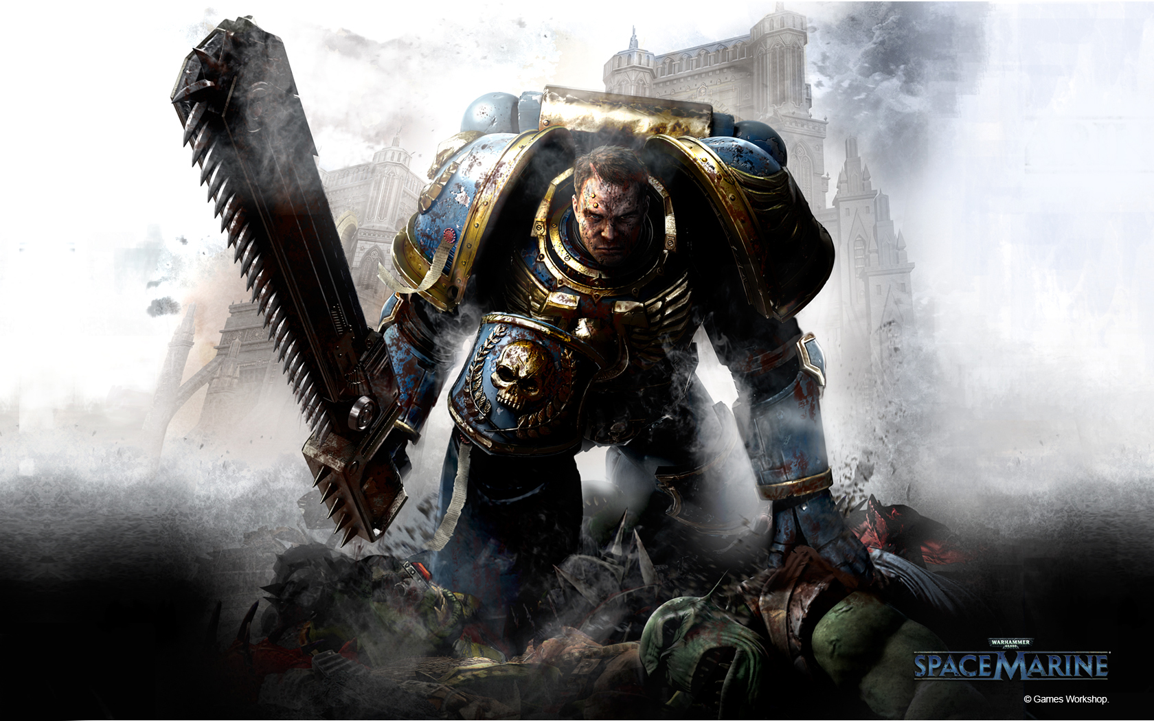 Pics For gt Warhammer 40k Wallpaper Space Marines 1680x1050