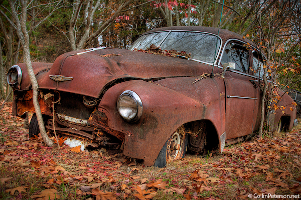 old abandoned cars
