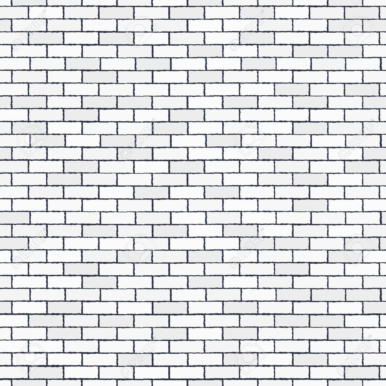 White Seamless Brick Wall Pattern Stonework Background Modern 1300x1300