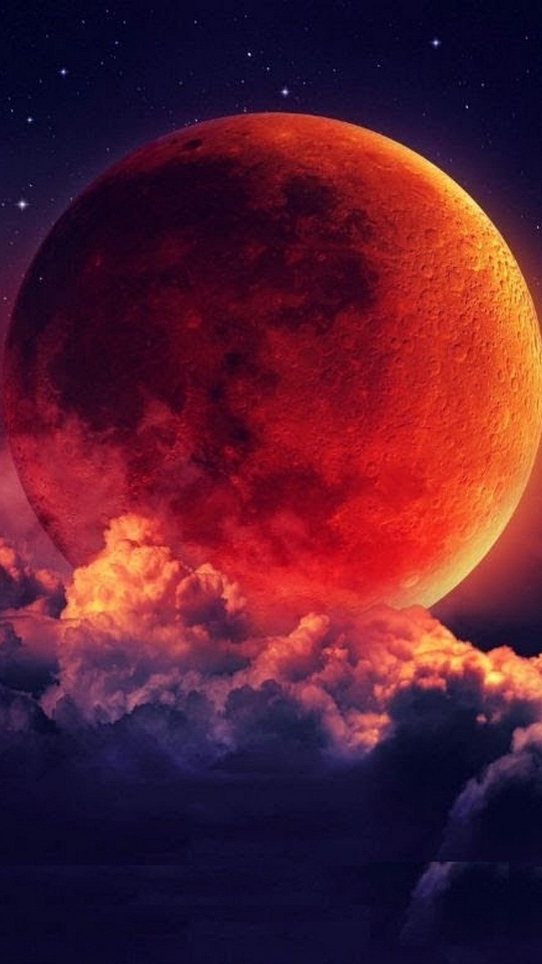 Blood Moon Wallpaper iPhone 2020 3D iPhone Wallpaper 1080x1920