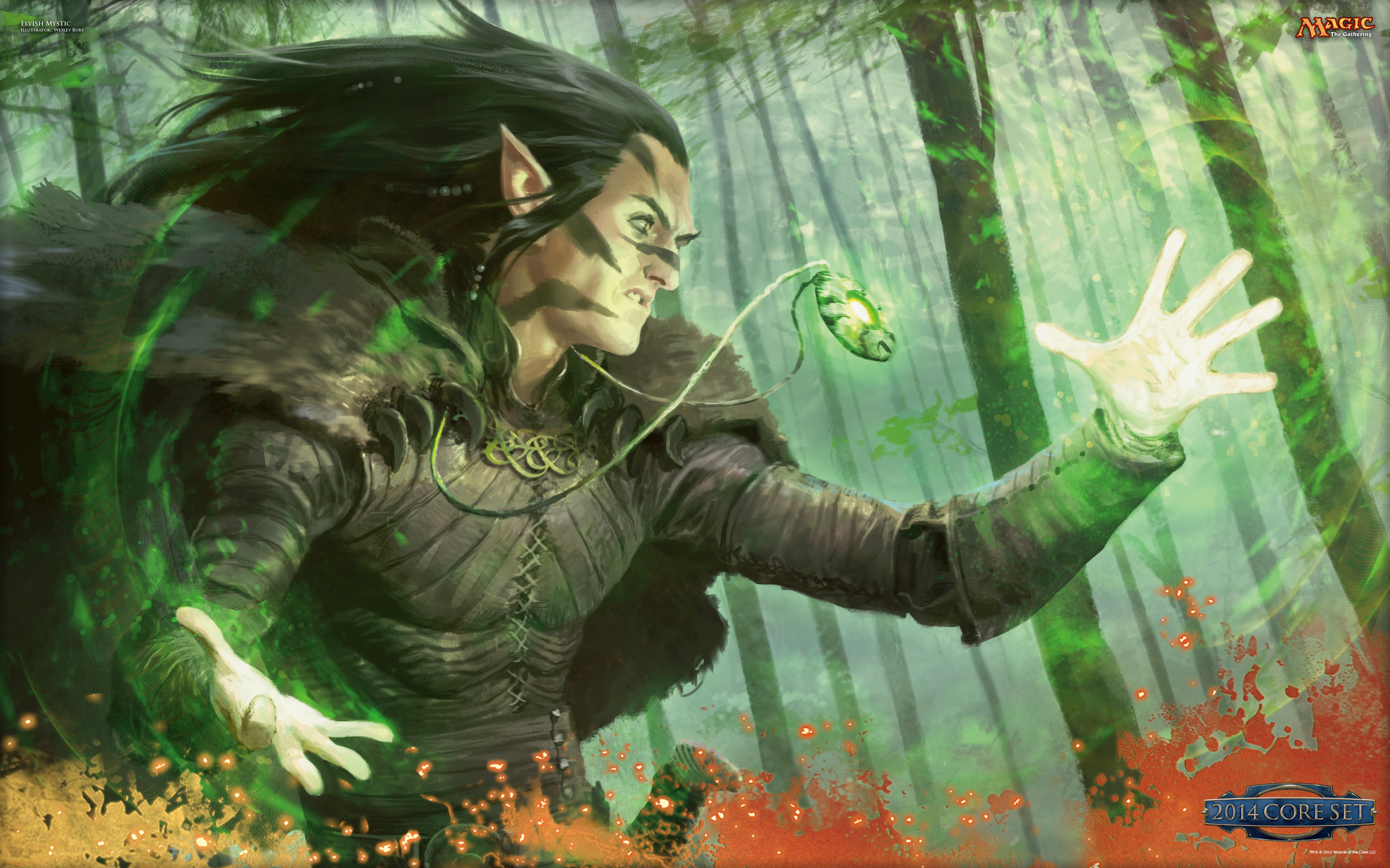 Free Download Wallpaper Of The Week Elvish Mystic Daily Mtg Magic