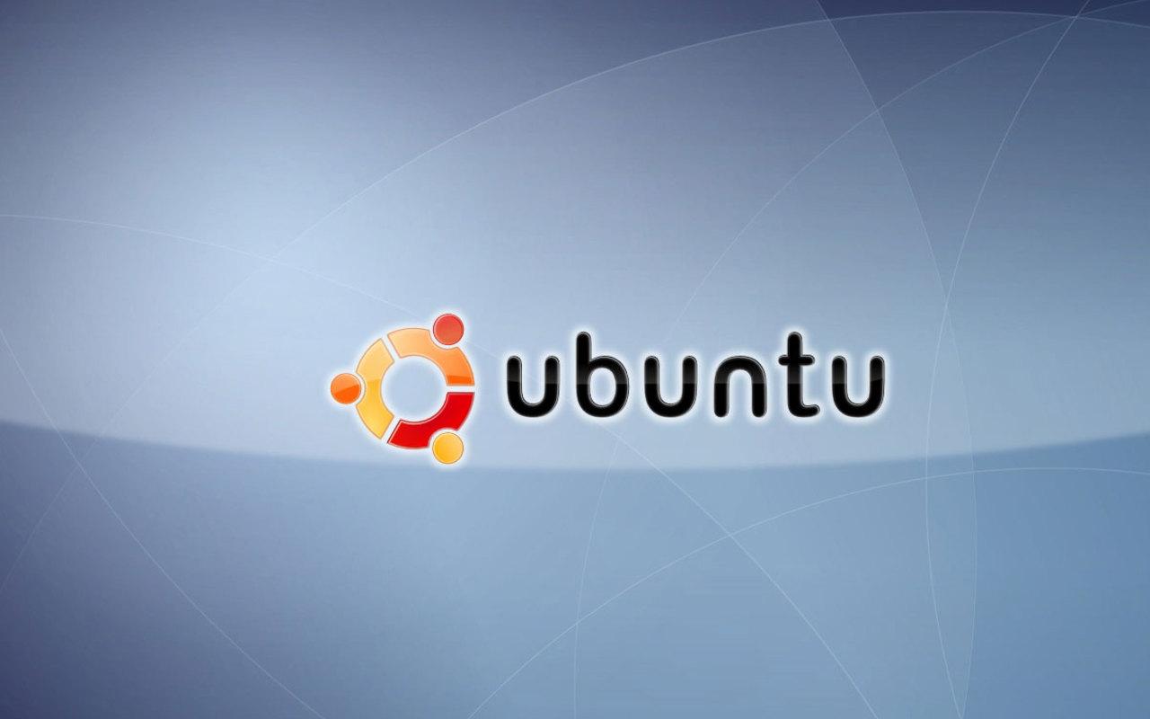 Ubuntu Logo Blue Background Azul Linux wallpaper download 1280x800
