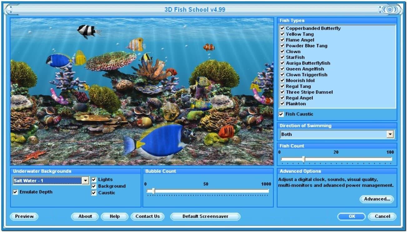 Live aquarium screensaver windows 7   Download 1303x743