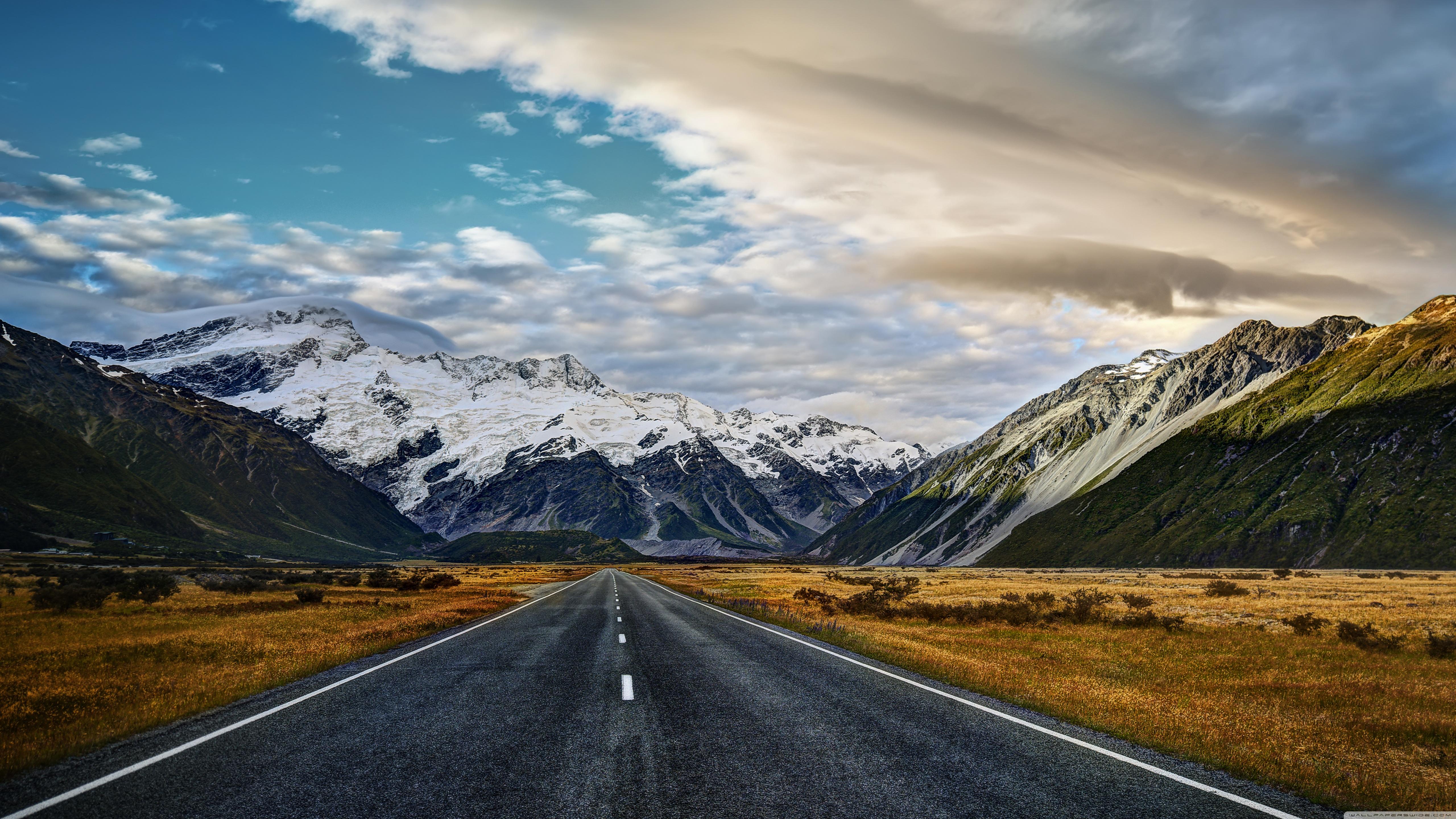 Road To Mount Cook 4K HD Desktop Wallpaper for 4K Ultra HD TV 5120x2880