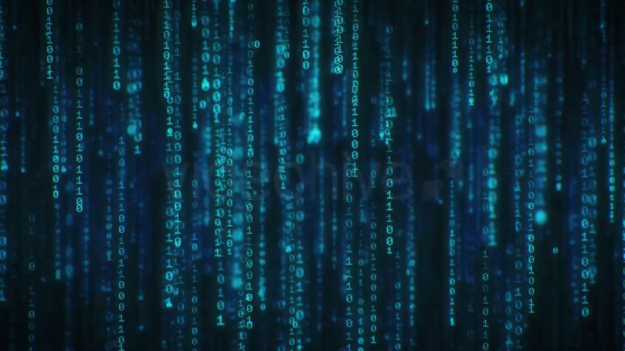 Binary Code 4K Long Loop Screensaver Live Wallpaper 1280x720