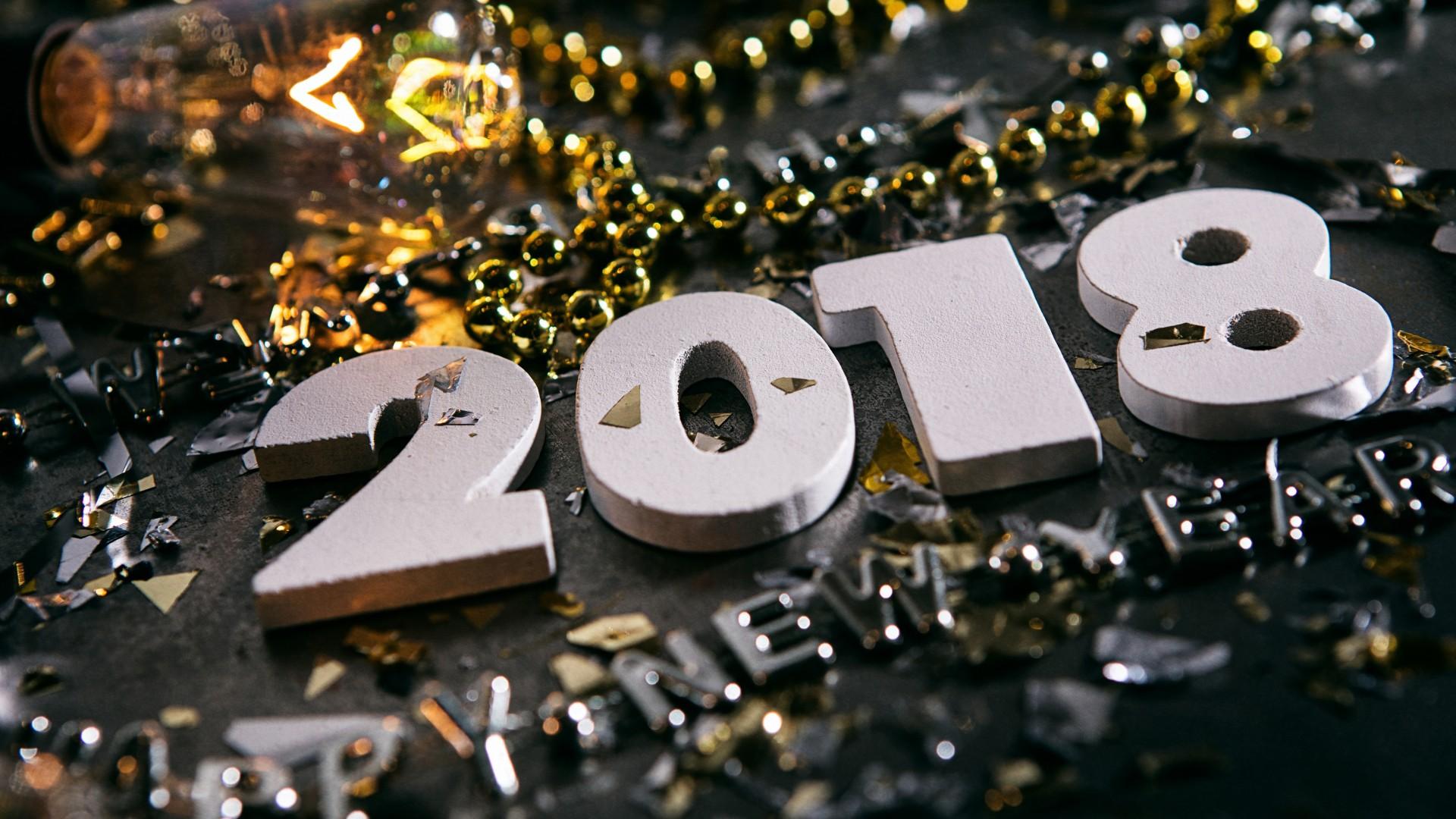 happy new year 2018 hd wallpaper wallpapersfanscom 1920x1080