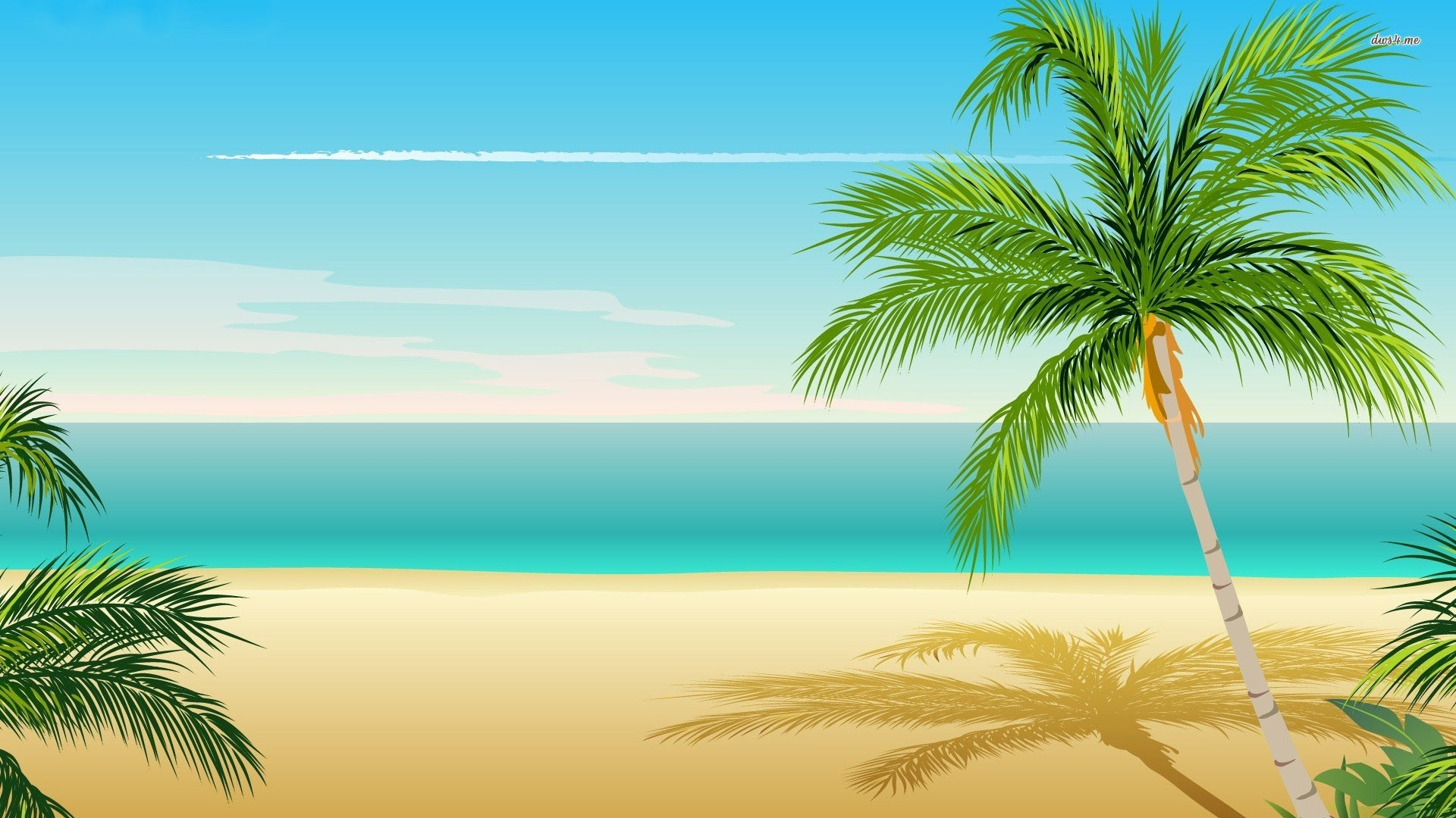 Palm tree wallpaper   Vector wallpapers   7444 1920x1080