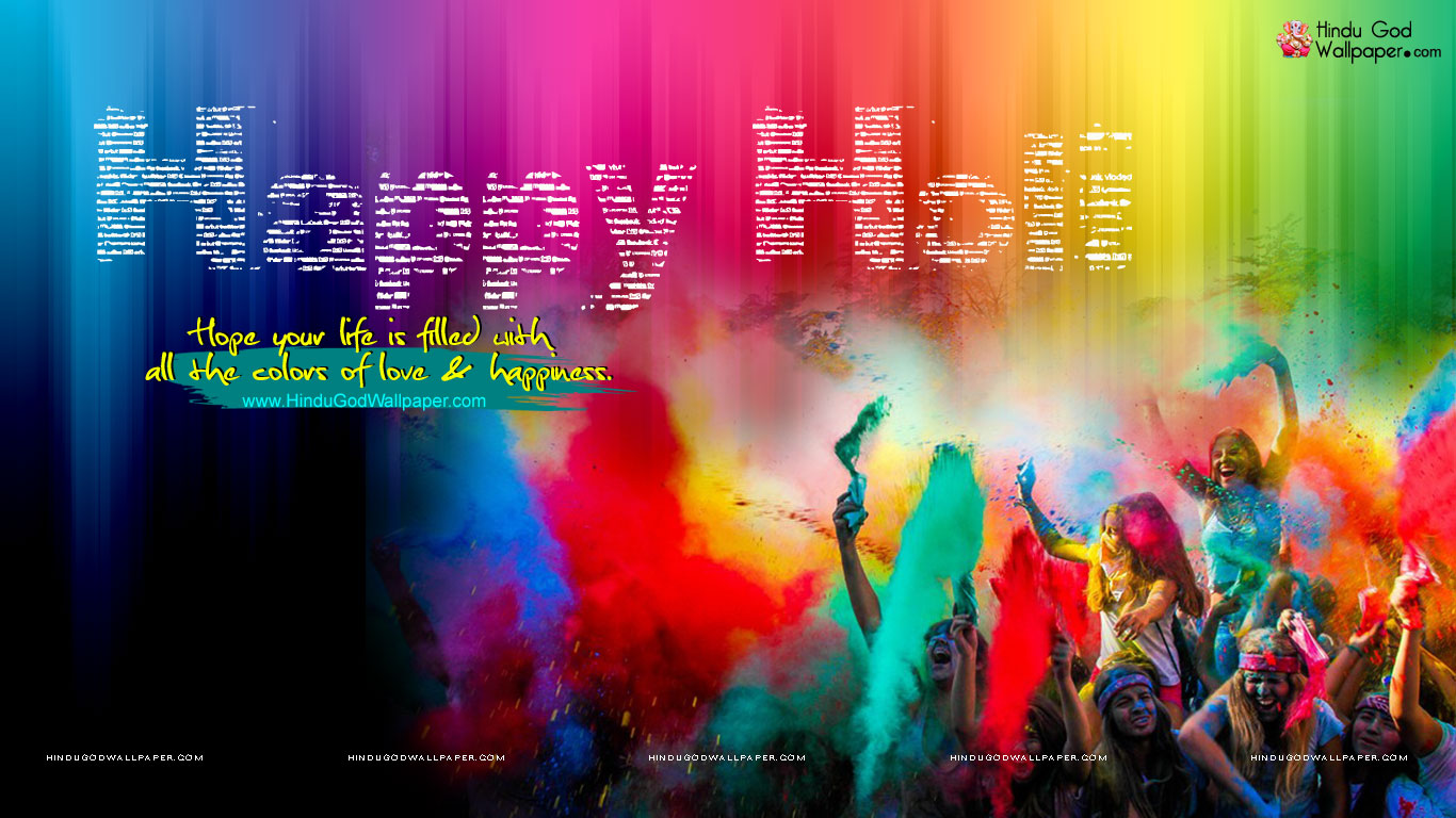 Festival of colour Holi HD Wallpapers   Latest Hd 1366x768