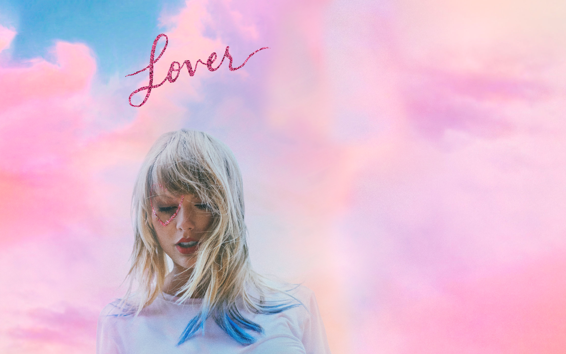 Made a desktop wallpaper featuring the Lover album cover and 2304x1440