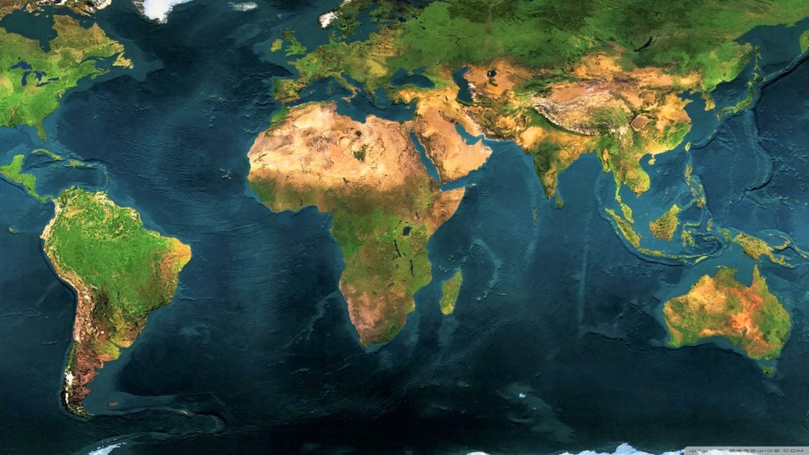 World Map Wallpaper 1600x900