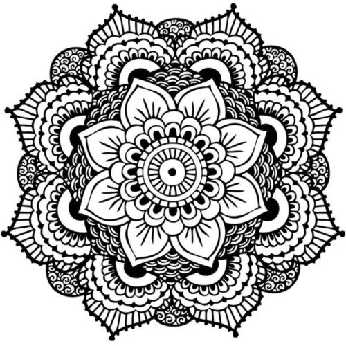 Mandala Wallpaper Black And White