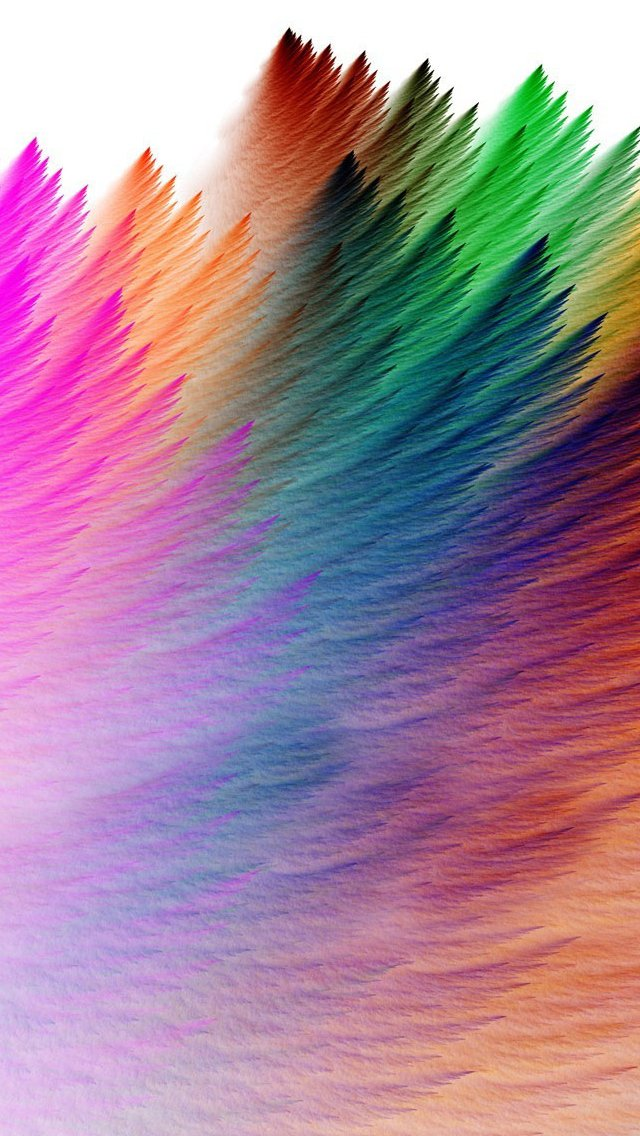 Rainbow feathers iPhone se Wallpapers Download 640x1136