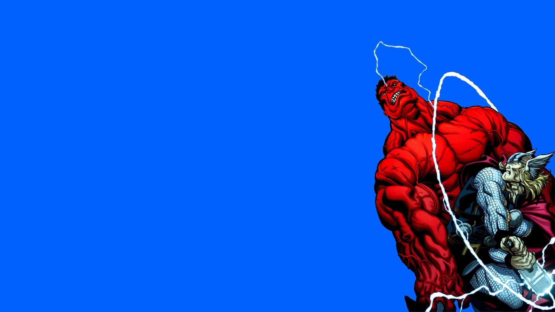 HD Red Hulk fighting Thor Wallpaper Download   149279 1920x1080