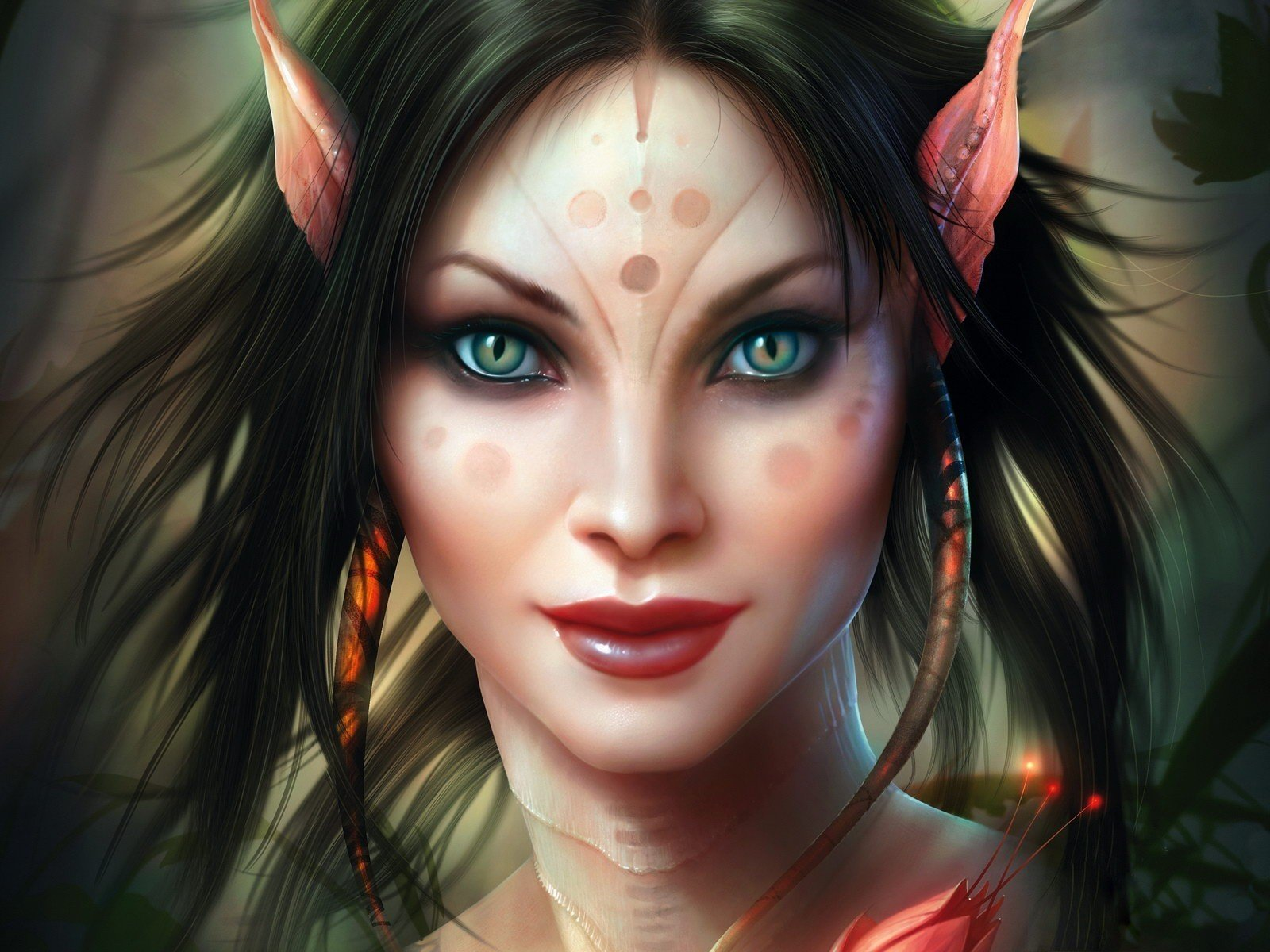 Women Fantasy Wallpaper 1600x1200 Women Fantasy Art Elves Faces 1600x1200