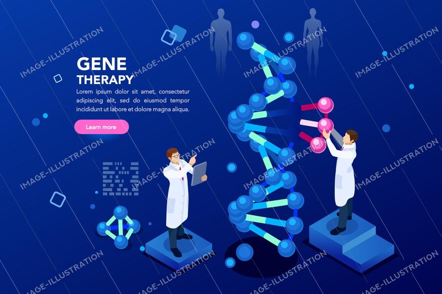 Dna Molecule Helix Blue Background   Image Illustration 910x605