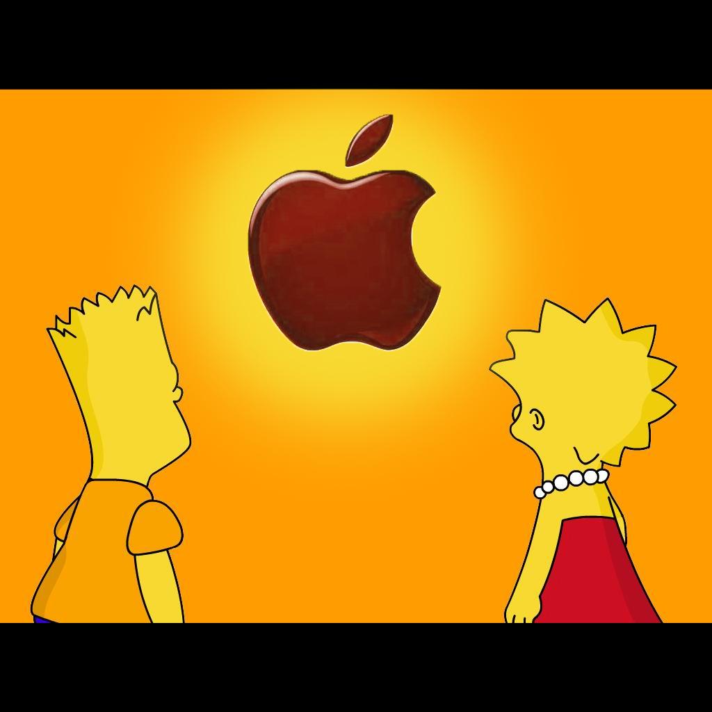 68 Simpsons Apple Wallpaper On Wallpapersafari