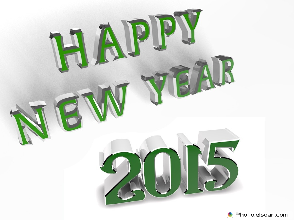Happy New Year 2015 On 3D Elegant Backgrounds Elsoar 1024x768