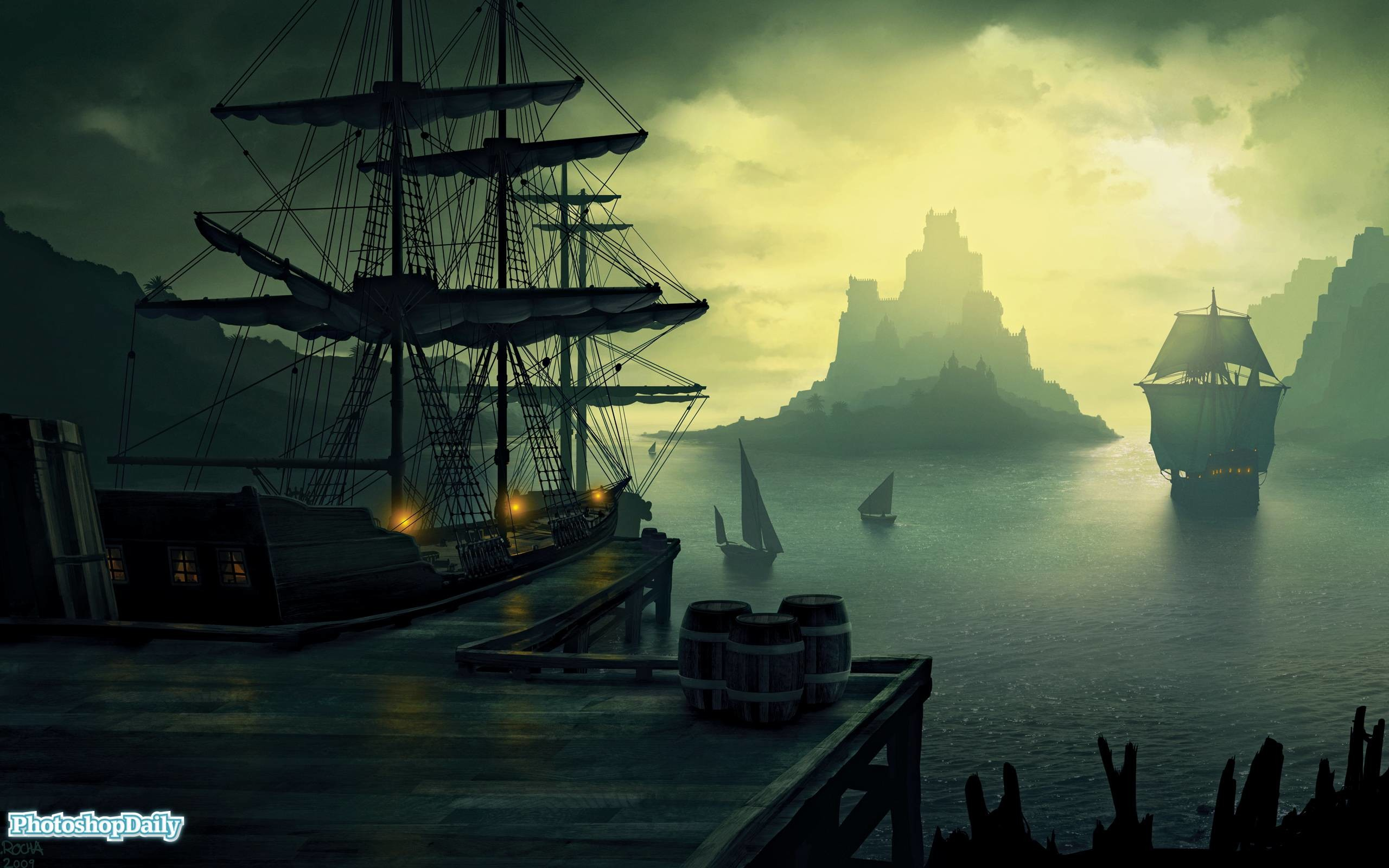 75 Pirate Ship Wallpapers on WallpaperPlay 2560x1600