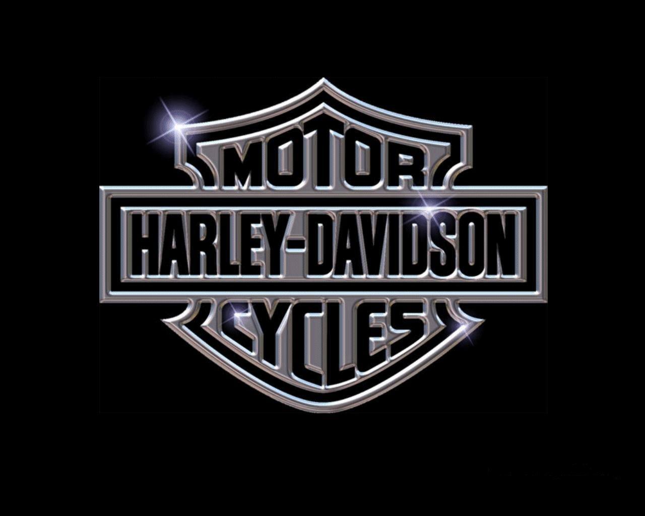 Harley Davidson Logo shine like a diamond 1280x1024