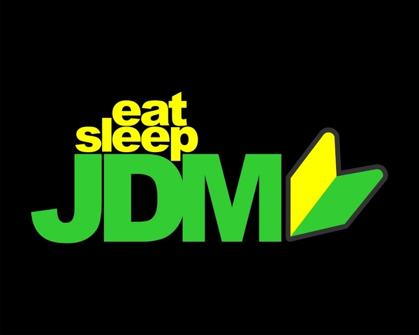 Jdm Logo Wallpaper For Iphone Eat sleep jdm stretched canvas 600x480