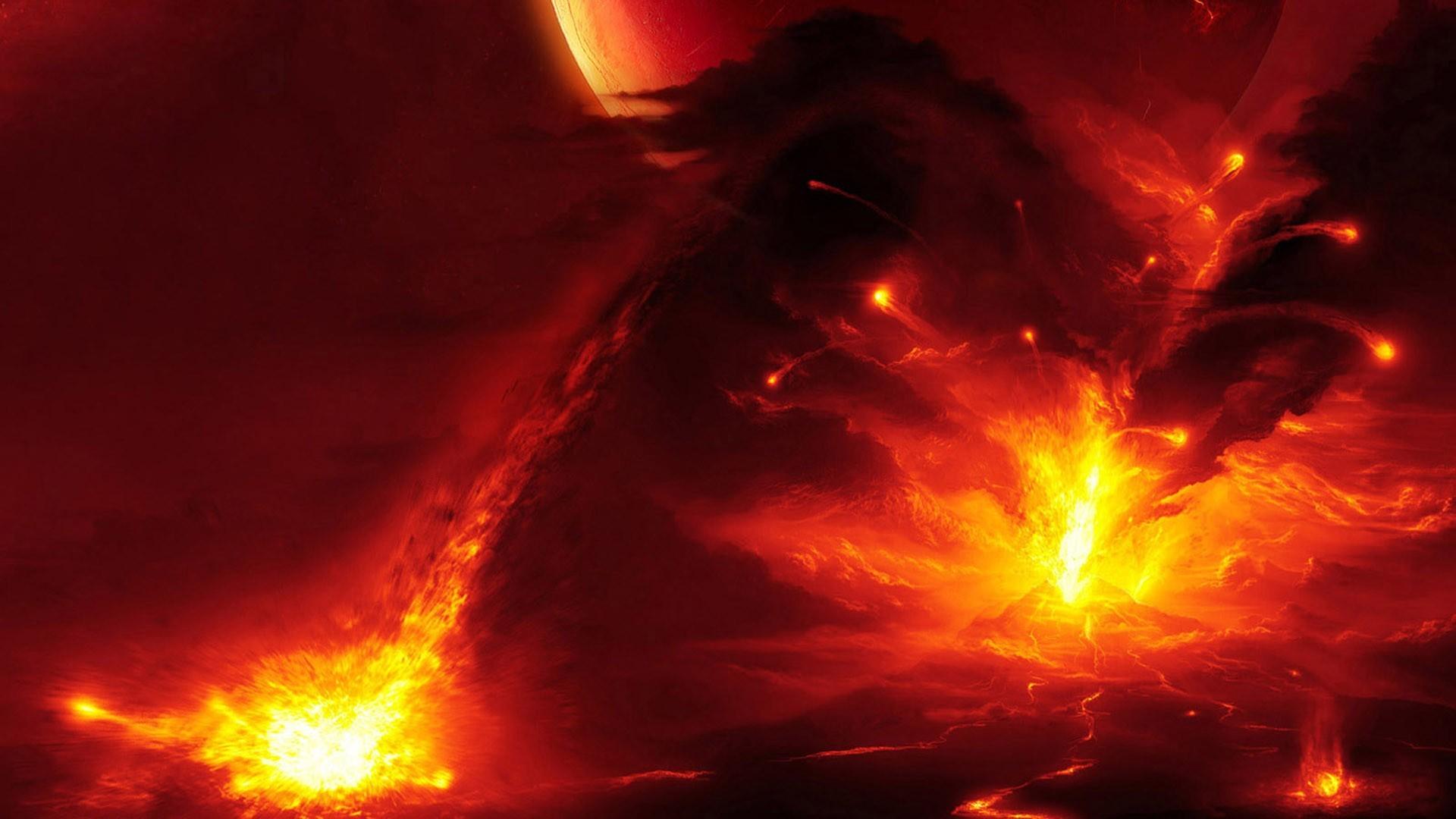 Pics Photos   Volcano Eruption Wallpaper 1920x1080