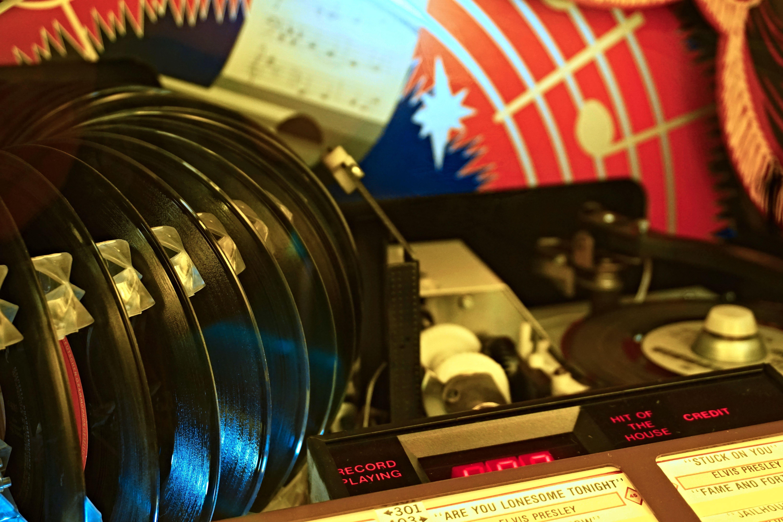 Jukebox records 5k Retina Ultra HD Wallpaper Background Image 6000x4000