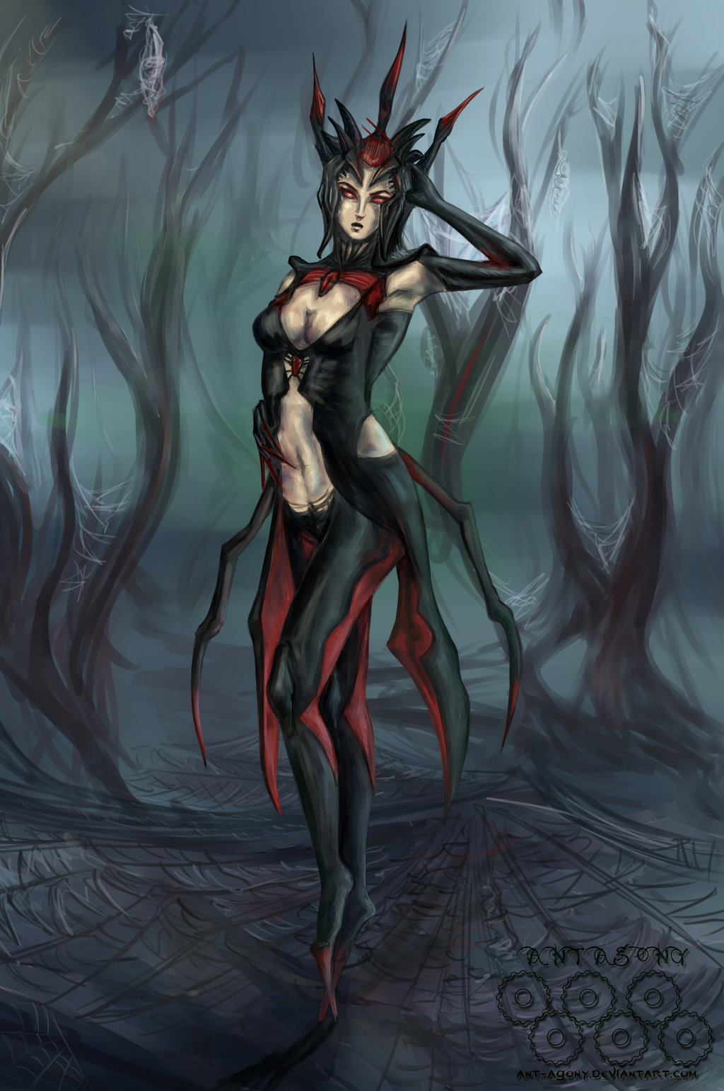fantasy 2013 2015 ant agony elise the spider queen my pathetic 1024x1542