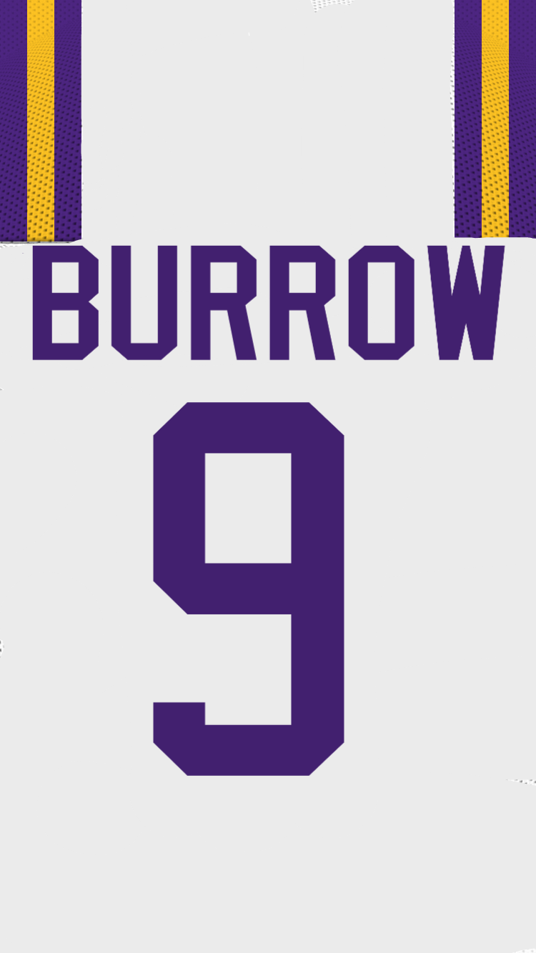 Joe Burrow LSU White Home Jersey wallpaper   Album on Imgur 750x1334