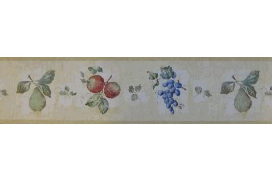 Taupe Fruit Wallpaper Border 900x600