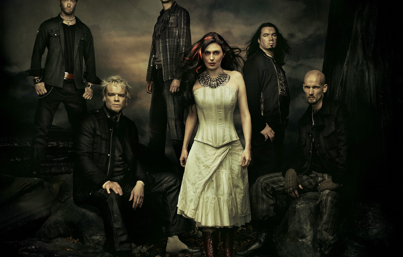 Wallpaper metal gothic Within Temptation Sharon den Adel 1332x850