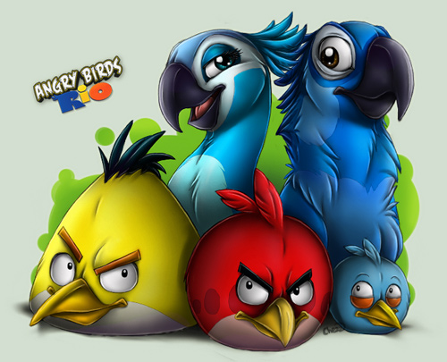 Free Download Angry Bird Cartoon Wallpaper 500x405 For