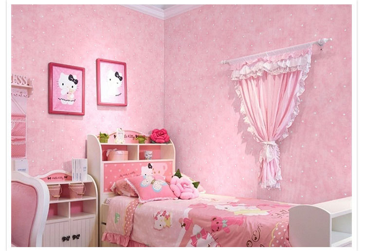 Wallpaper for girls room wallpapersafari - Bed kamer ...