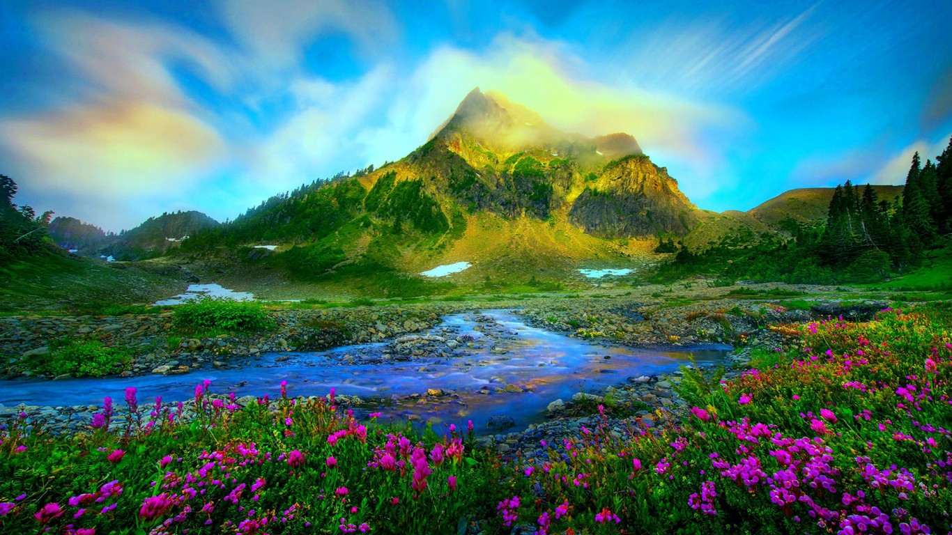 Nature Landscape Wallpapers Hd Widescreen Wallpaper Nature 1366x768