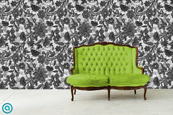 Temporary Wallpaper Repositionable Reusable  FAST EASY on Etsy 570x378