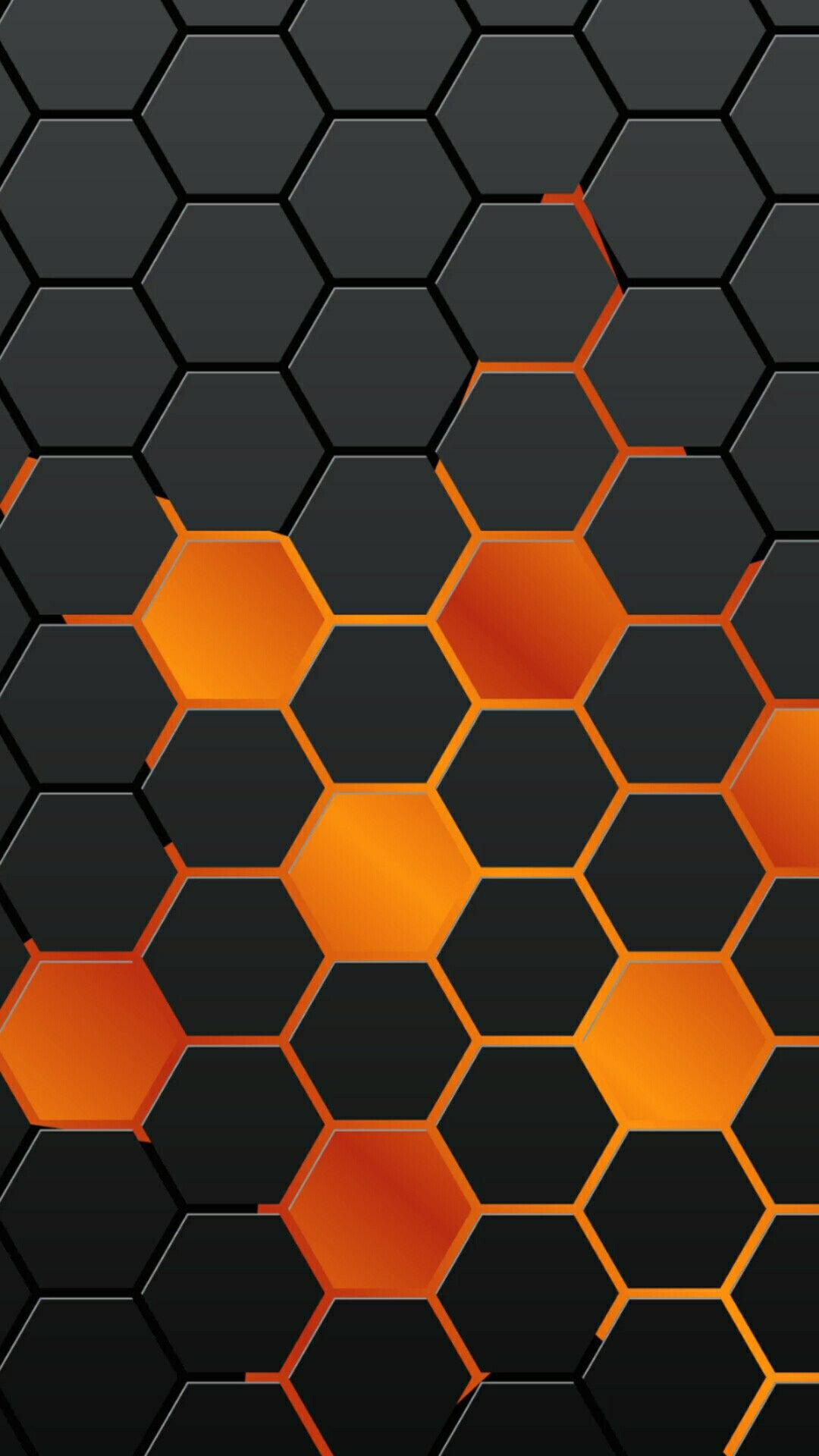 iPhone wallpaper background orange black octagon pattern iphone 7 1080x1920
