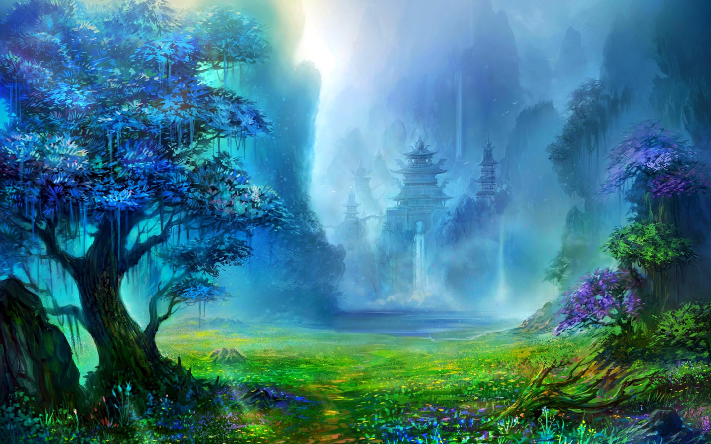 Anime Artwork Landscape Wallpapers Computer Desktop 1440x900