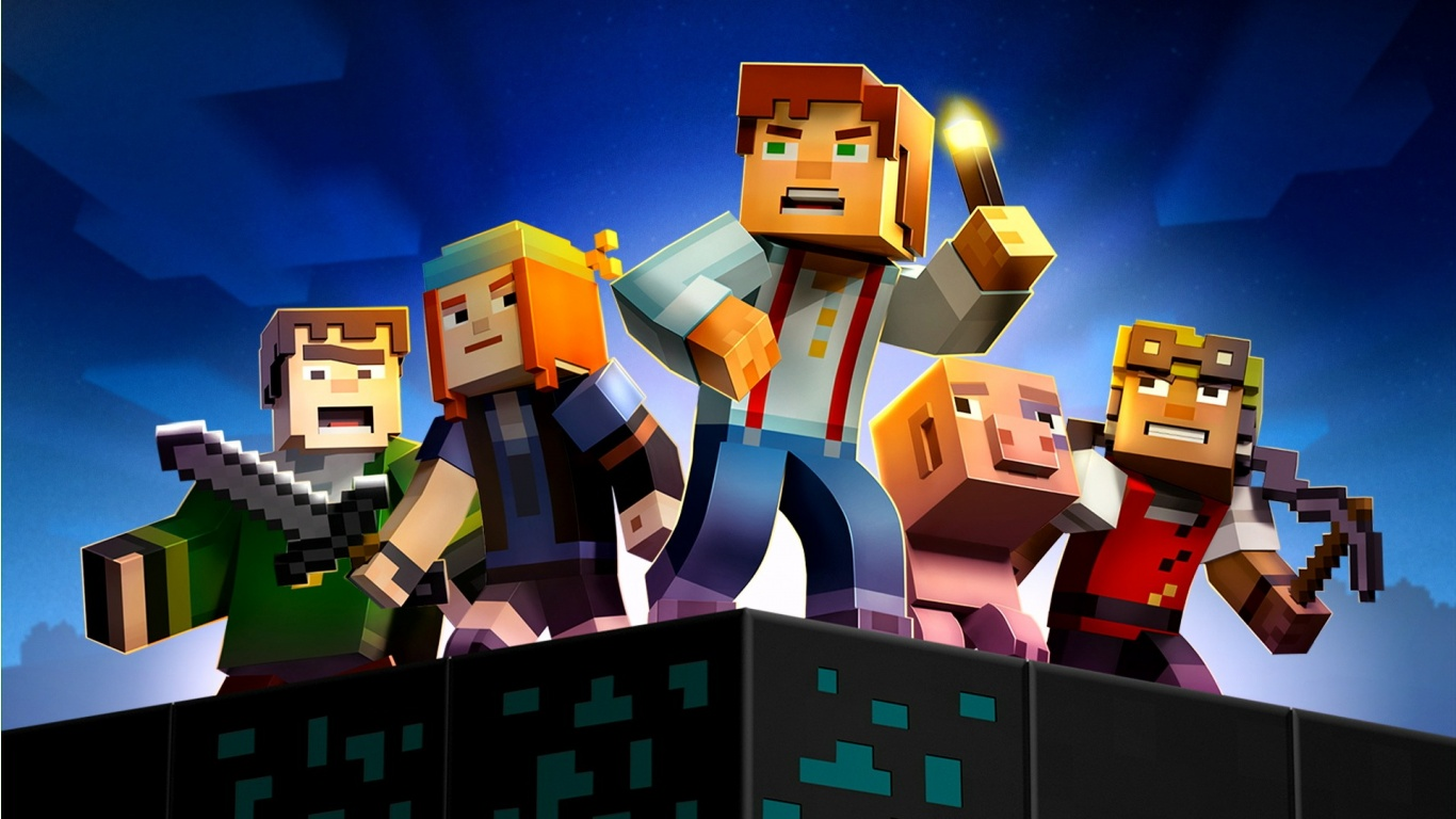 download Minecraft Story Mode 2015 Wallpapers 1366x768 260585 1366x768