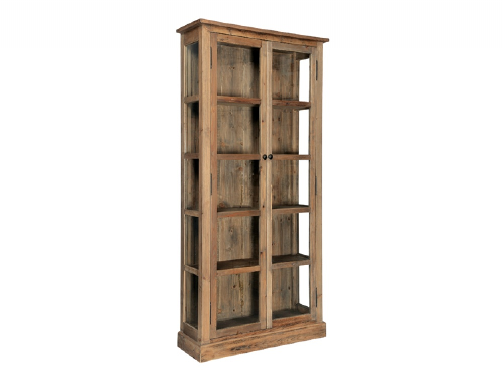 Solid Pine Natural Finish Glass Display Unit Cabinets from FADS 1000x750