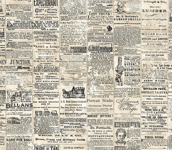 Newspaper Wallpaper 600x525