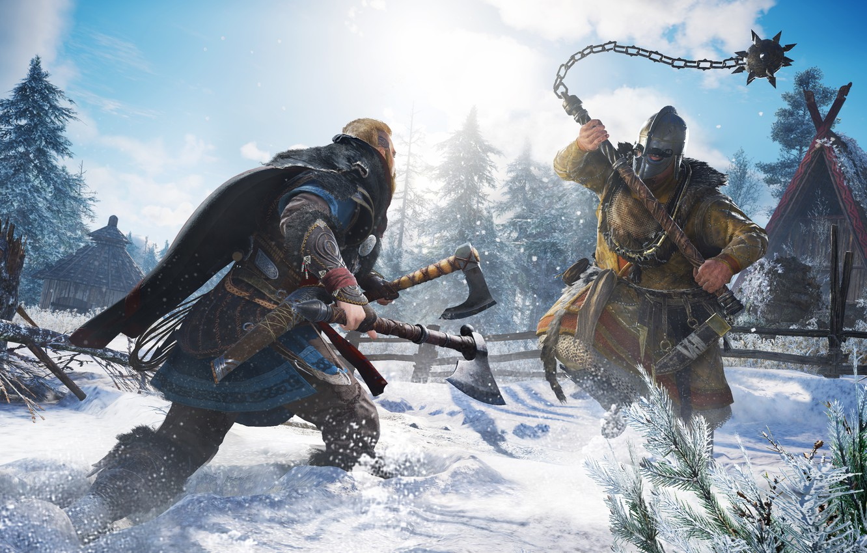 Wallpaper battle Assassins Creed the Vikings Ubisoft Montreal 1332x850